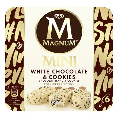 Magnum IJs mini white chocolate & cookies