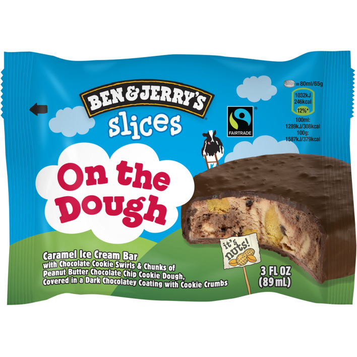 Ben & Jerry's IJs caramel  on the dough bar