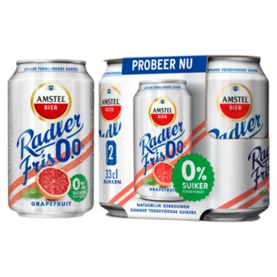 Amstel Radler Fris 0.0 Bier Grapefruit Blik