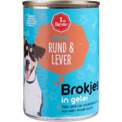 Huismerk Hondenvoer kalf & lever in gelei