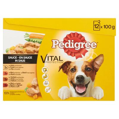 Pedigree Hondenvoer Nat Vital Protection in Saus 12 Maaltijdzakjes x 100 g