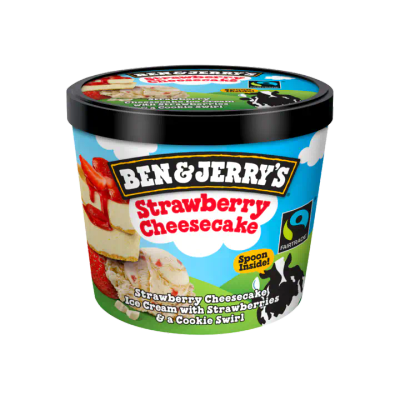 Ben & Jerry's Mini Cup IJs Strawberry Cheesecake