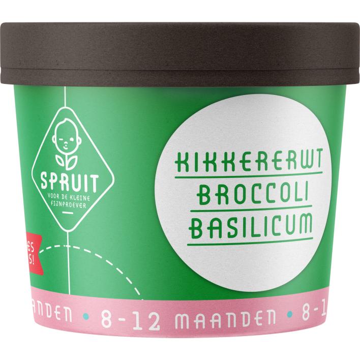 Spruit 8-12mnd: kikkererwt broccoli basilicum