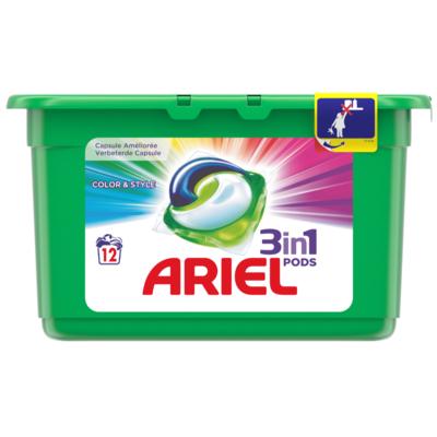Ariel Vloeibaar wasmiddel 3-in-1 pods color & style