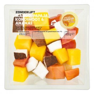 Huismerk Zongerijpt Tropische Fruitsalade 320g