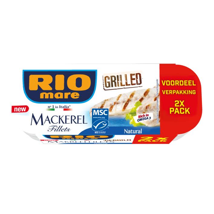 Rio Mare Makreel in water duo verpakking