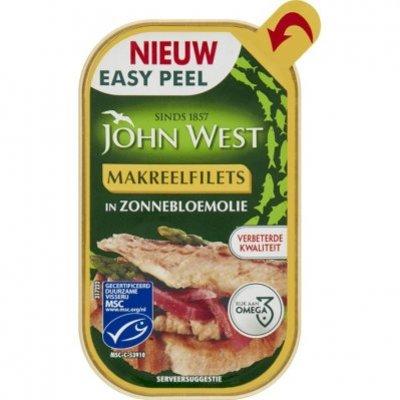 John West Makreelfilet in zonnebloemolie MSC