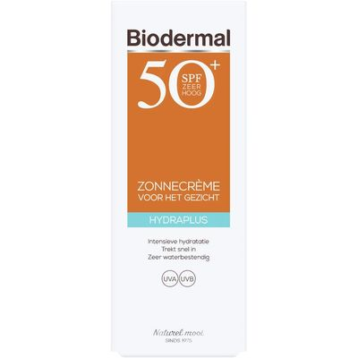 Biodermal Hydraplus zonnecreme gezicht spf 50+