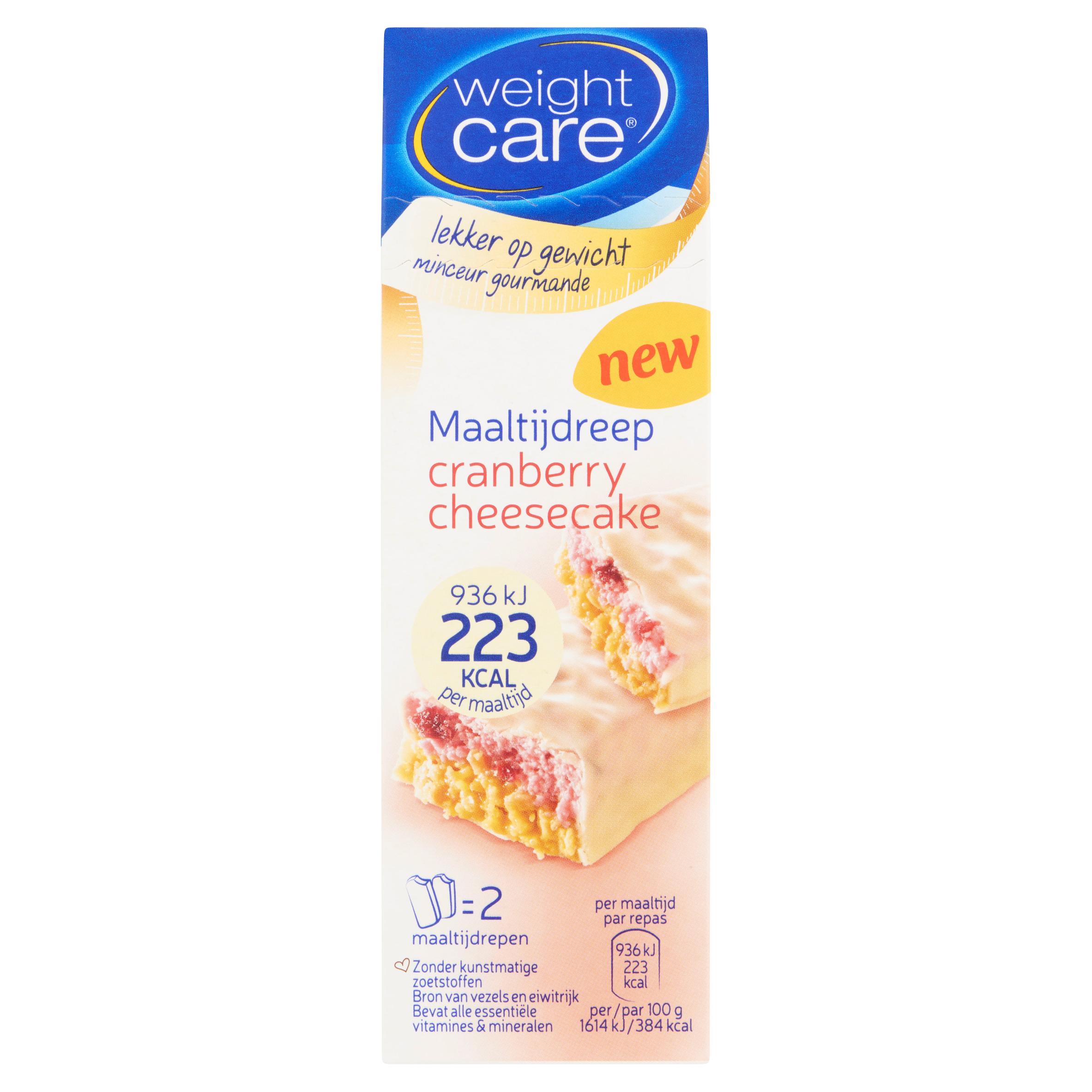 Weight Care Maaltijdreep Cranberry Cheesecake 2 x 58 g