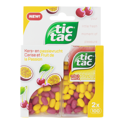 Tic-Tac Cherry & passionfruit duopack