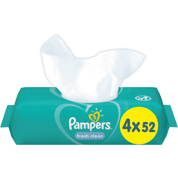 Pampers Baby wipes fresh clean 4-pack