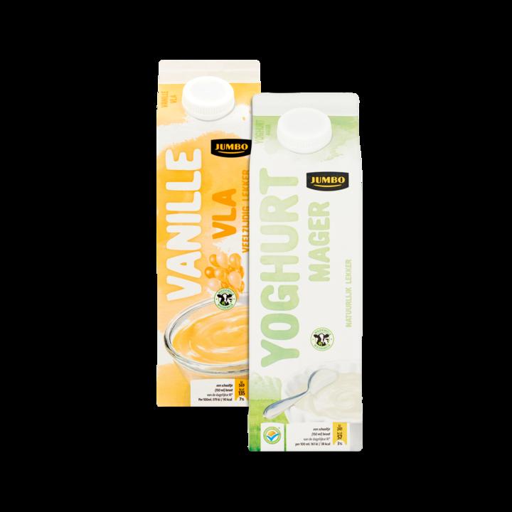 Huismerk Vanillevla En Magere Yoghurt