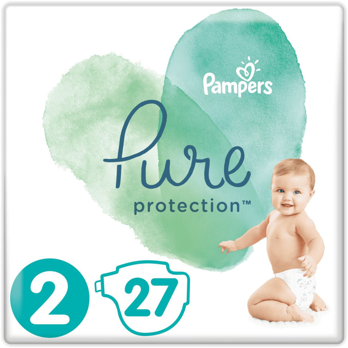 Pampers Pure protection maat 4-8 kg maat 2