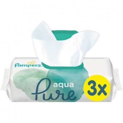 Pampers Baby Wipes Pure Protection 3 stuks