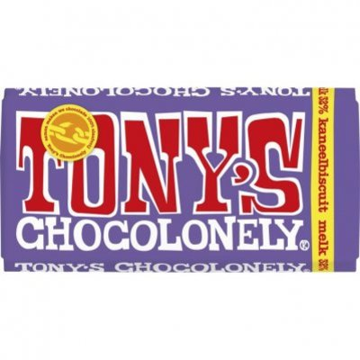 Tony's Chocolonely Melkchocolade kaneelbiscuit