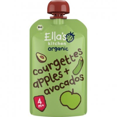 Ella's Kitchen Courgettes apples + avocados 4+ bio