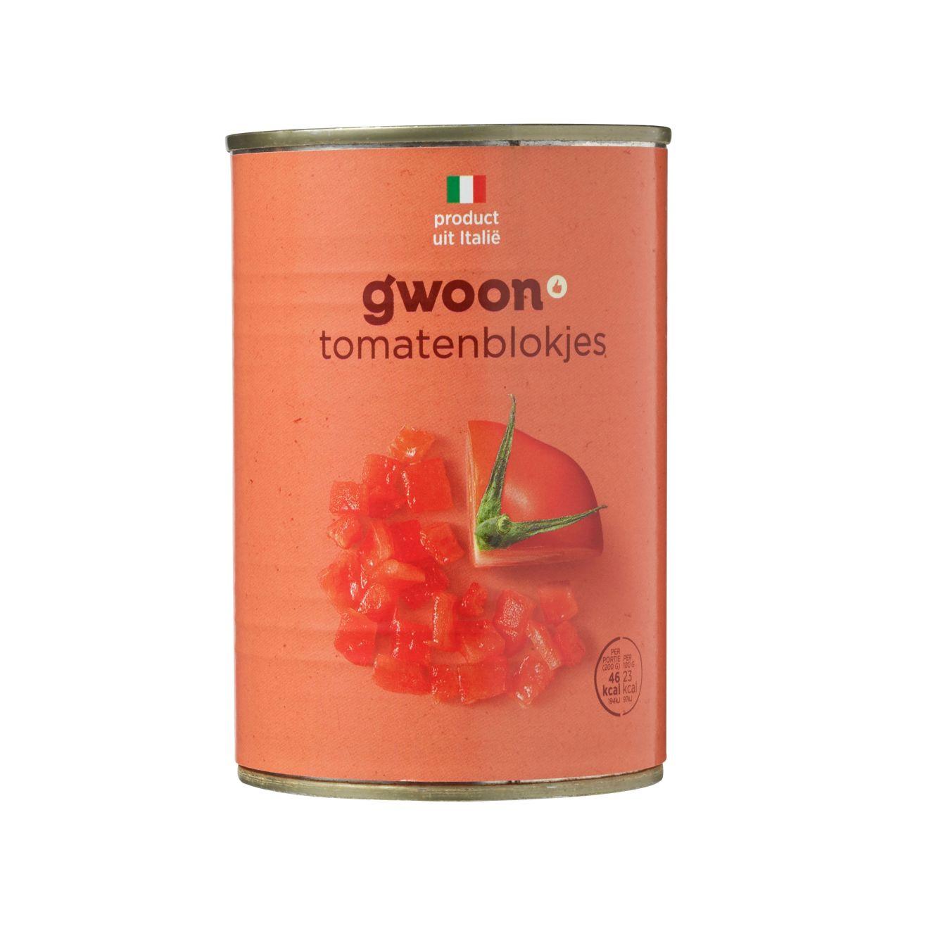 G'woon Tomatenblokjes In Tomatensap