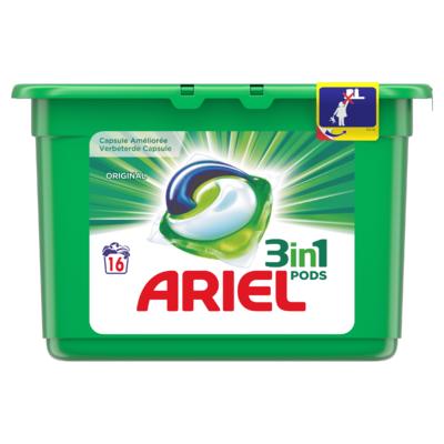 Ariel Pods Original Wasmiddelcapsules 16 Wasbeurten