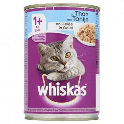 Whiskas Kattenvoer nat tonijn in gelei 1+ jaar