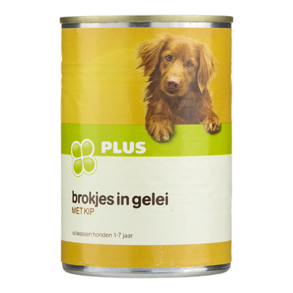 Huismerk Hondenvoer kip brok/gelei 4%