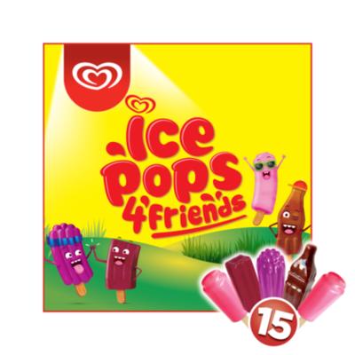 Ola Ola Ice Pops 4 friends 15 stuks