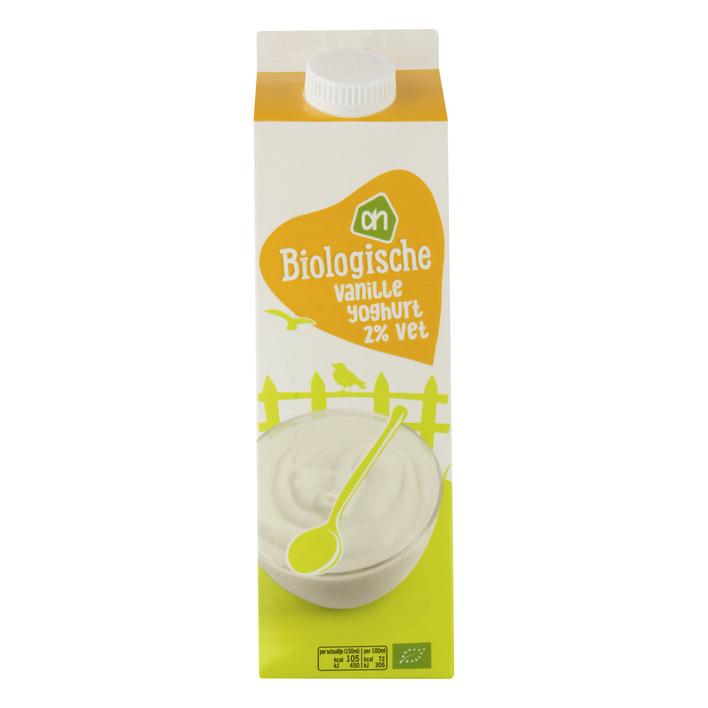 Huismerk Biologisch Vanille yoghurt 2%