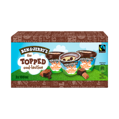 Ben & Jerry's Topped Cool-Lection Topped Salted Caramel Brownie