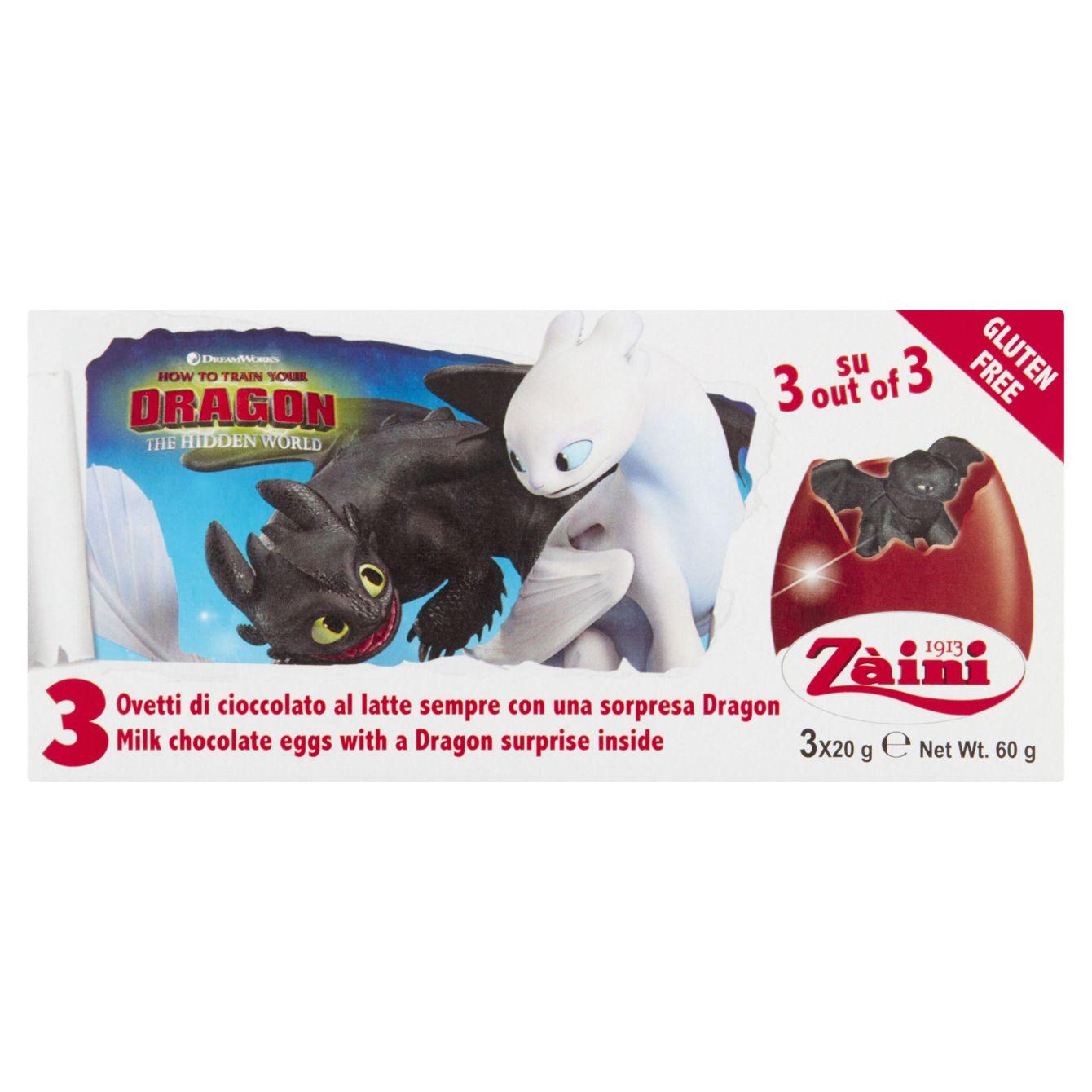 Zaini Chocolate Eggs Dragons 3-pack
