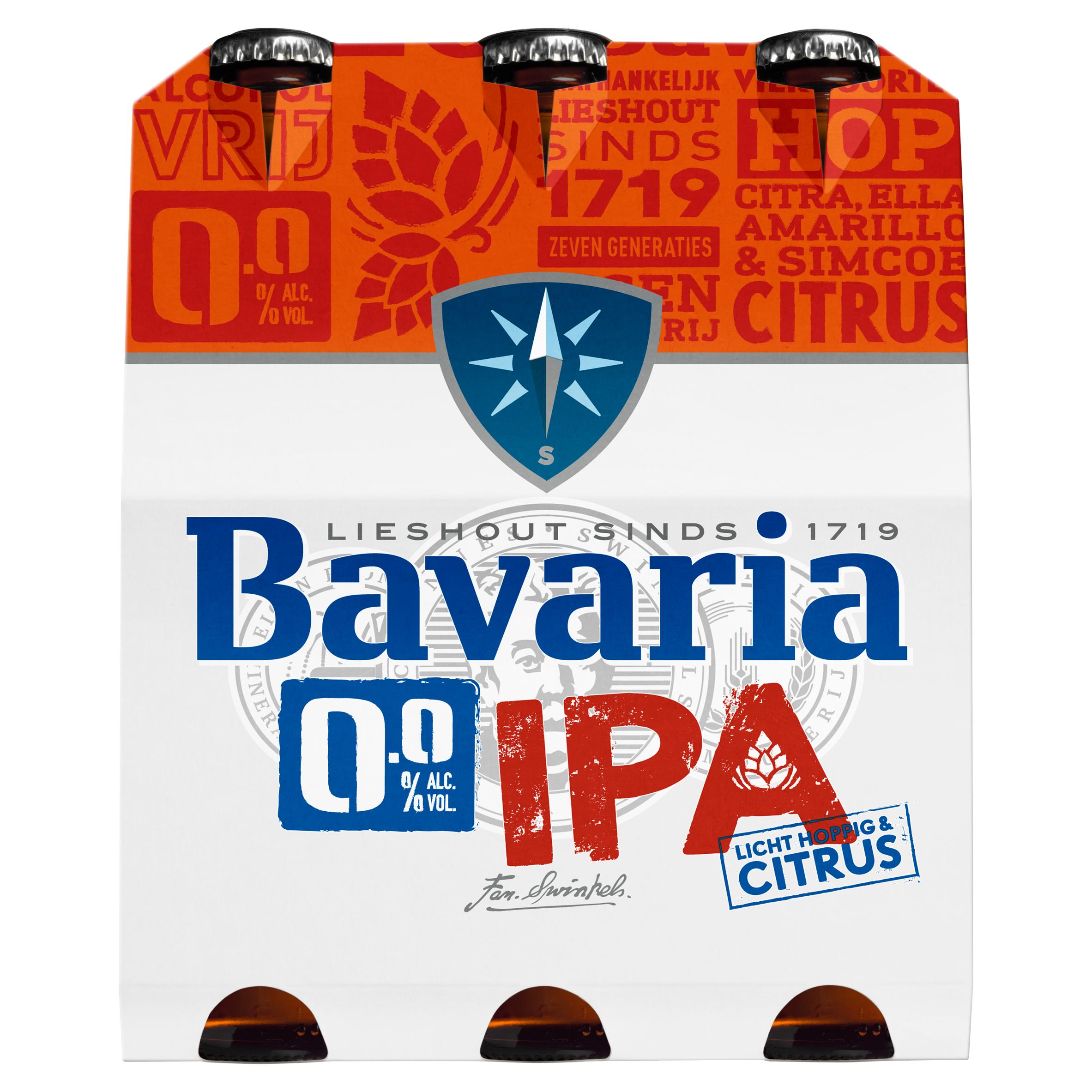 Bavaria 0.0% Alc. IPA Flessen 6 x 30 cl