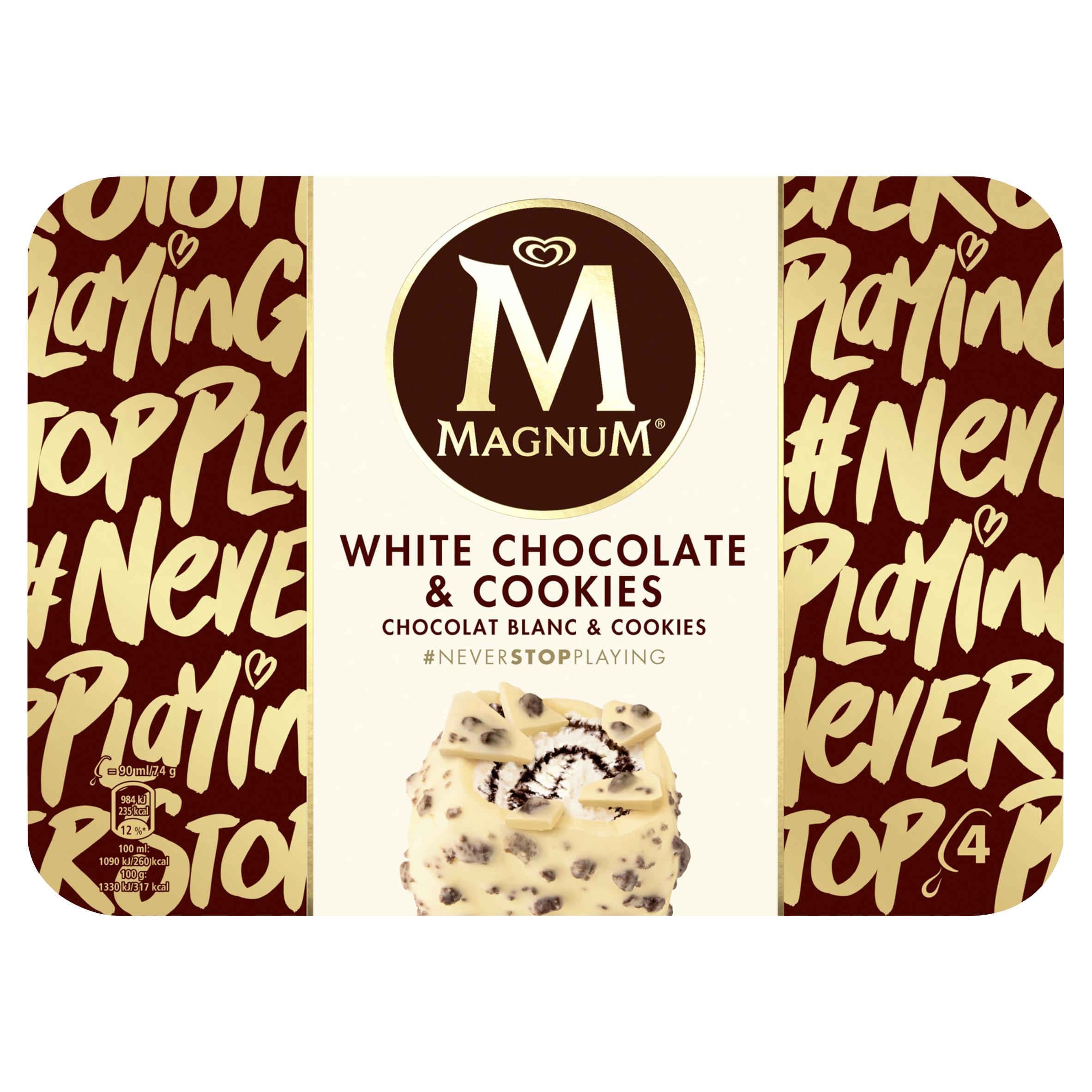 Magnum IJs White Chocolate & Cookies 4 x 90 ml