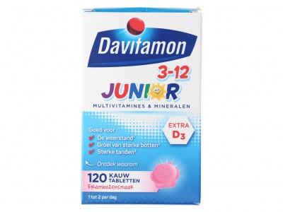 Davitamon Kauwtablet junior framboos
