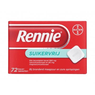 Rennie Suikervrij kauwtablet