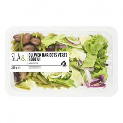 Huismerk Sla& olijven haricots verts rode ui