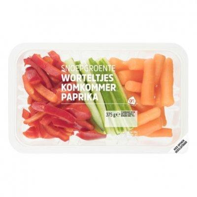Huismerk Snoepgroente wortel komkommer paprika