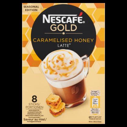 Nescafe Gold caramelised honey latte
