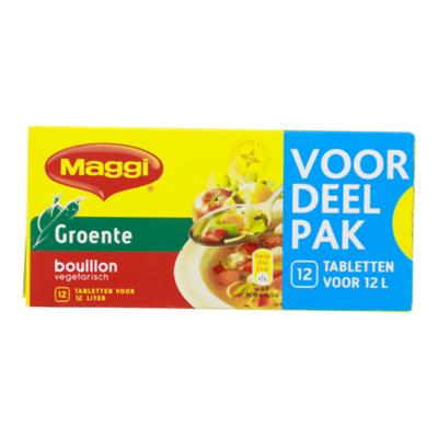 Maggi Bouillon groente veg 12 blokjes