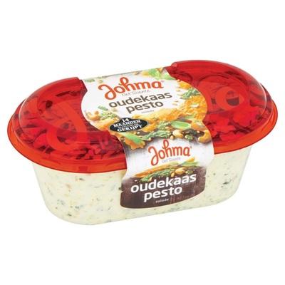 Johma oude kaas pestosalade