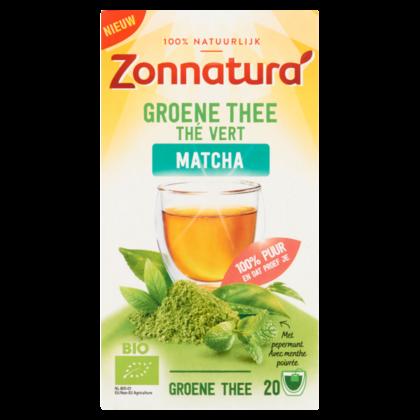 Zonnatura Groene thee matcha pepermunt