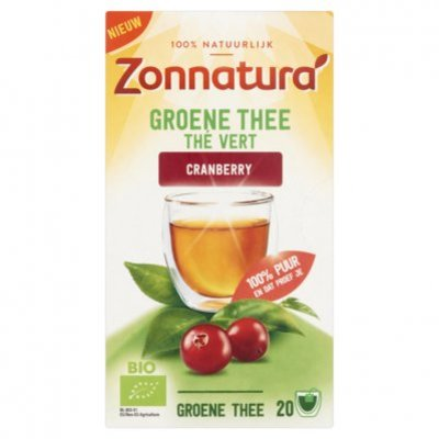 Zonnatura Groene thee cranberry