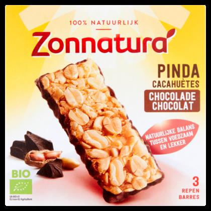 Zonnatura Pinda reep met pure chocolade