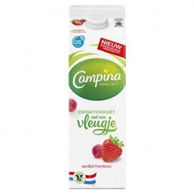 Campina Vleugje drinkyoghurt aardbei framboos