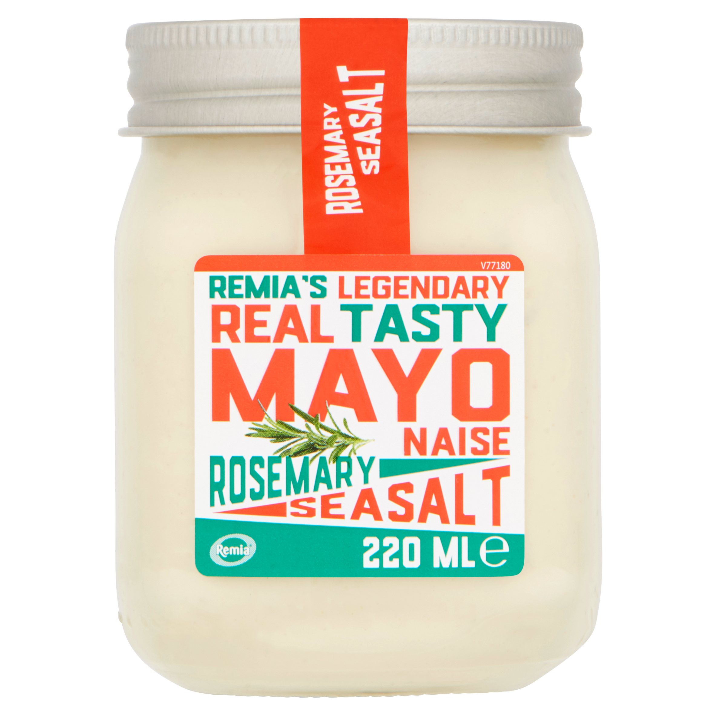 Remia's Legendary Real Tasty Mayonaise Rosemary Seasalt 220 ml