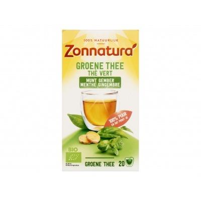Zonnatura Groene thee munt gember