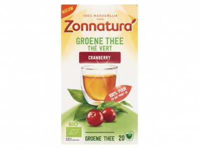 Zonnatura Groene thee cranberry