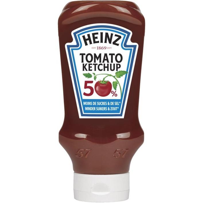 Heinz Tomaten ketchup 50% minder