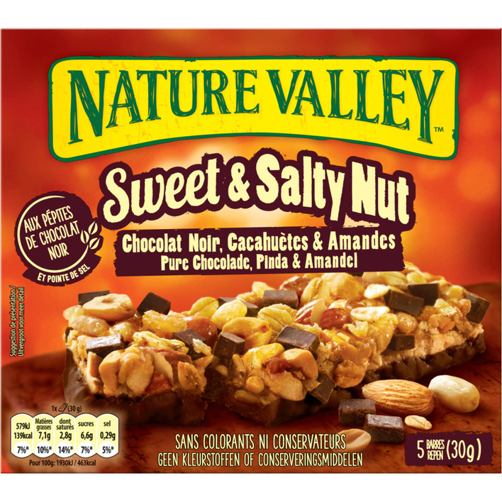 Nature Valley Sweet & salty nut pure chocolade