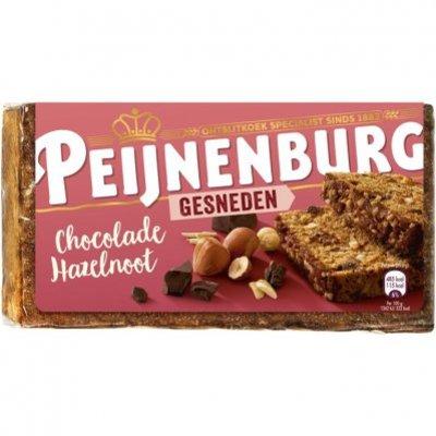 Peijnenburg Ontbijtkoek chocolade noten gesneden