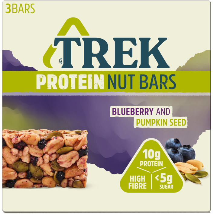 Trek Nut bars blueberry & pumpkin seed