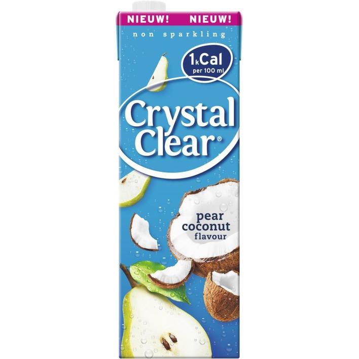 Crystal Clear Koolzuurvrij peer kokos