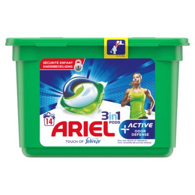 Ariel Wasmiddelcapsules Active Odour Defense, 14 Wasbeurten